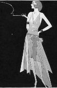 1920's Fashion - Madeleine Vionnet style handkerchief dress