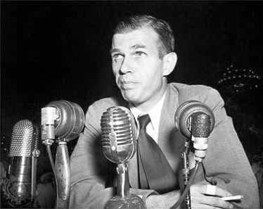 Alger Hiss testifying before the HUAC
