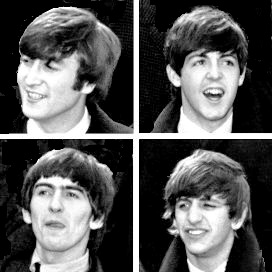 Beatlemania: John Lennon, Paul McCartney, George Harrison and Ringo Starr