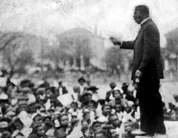 Booker T. Washington giving the Atlanta Compromise Speech Speech
