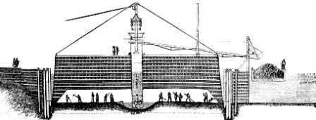 Cross Section of a Caisson