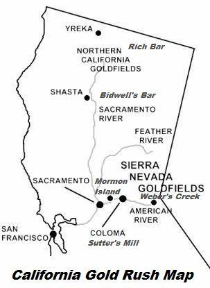 California Gold Rush Map
