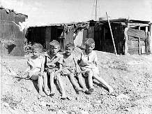 Great Depression: Children living in Shantytowns (Hoovervilles)