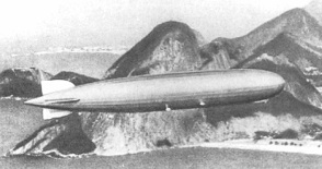 LZ 127  Graf Zeppelin Airship flying over Rio