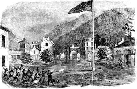 Picture of the Battle at Harpers Ferry