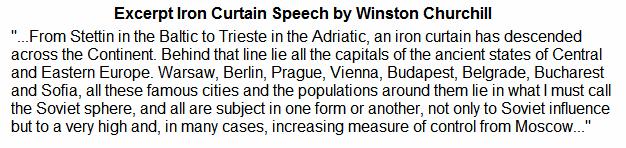 Iron Curtain Speech By Winston Churchill