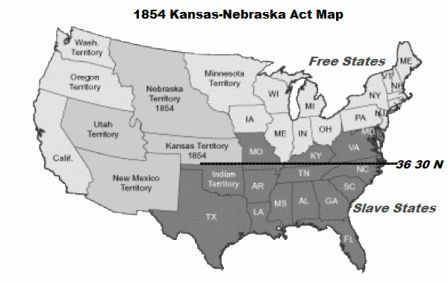 Free Nebraska Map.Kansas Nebraska Act For Kids Map Facts And Effects