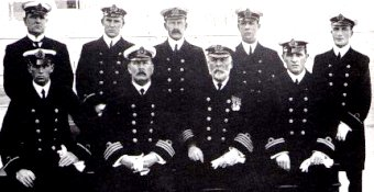 The officers of the Titanic