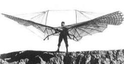 Otto Lilienthal on his glider