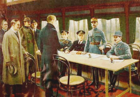 British, French and German Signers of the Armistice
