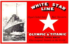 White Star Line - Titanic and Sister Ship Olympic
