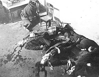Victims of the St. Valentine's Day Massacre on February 14, 1929