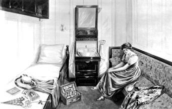 Titanic Second Class single berth cabin