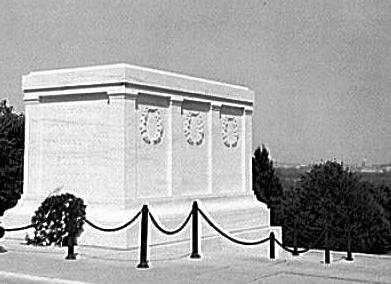 The Tomb of the Unknown Soldier in Arlington Cemetery, Virginia