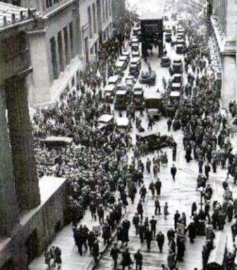 Wall Street during the 1929 crash